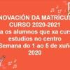 RENOVACION MATRICULA 20-21
